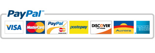 We accept payments by PayPal, the most secure payment method on the web.